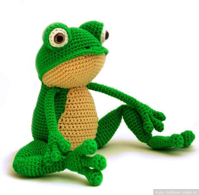 Лягуш крючком, описание / Вязание игрушек, схемы / Бэйбики. Куклы фото. Одежда для кукол