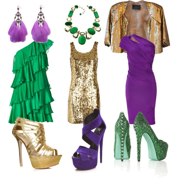 Mardi Gras, created by musicalbeargirl on Polyvore