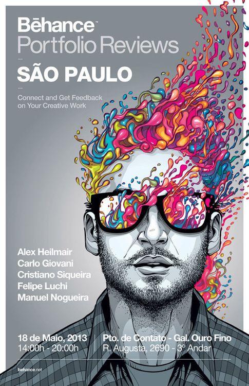 Behance Porfolio Reviews São Paulo by Cristiano Siqueira, Sao Paulo, Brazil  Superbe affiche !