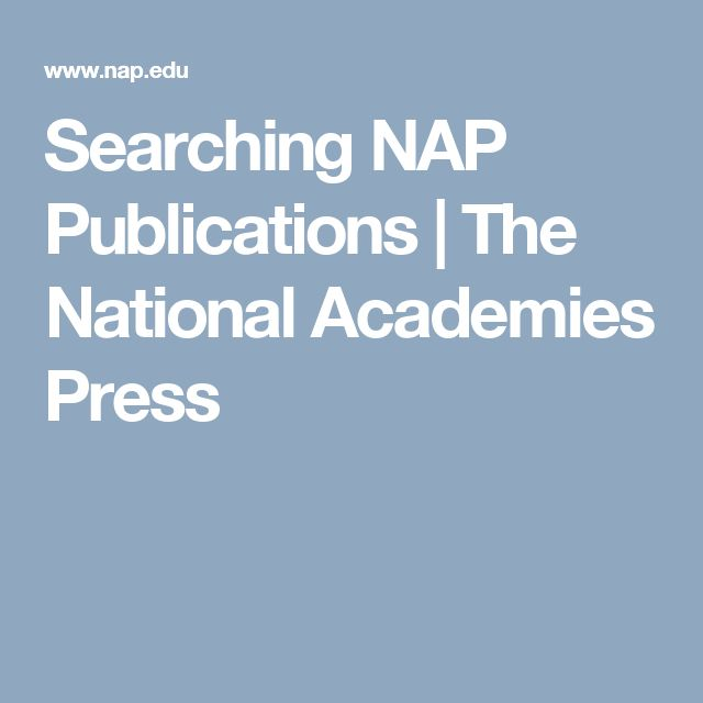Searching NAP Publications   The National Academies Press