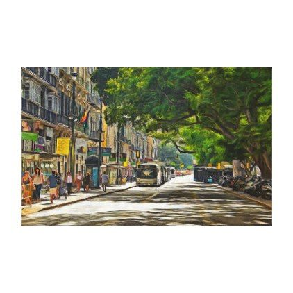 A sunny day in a shady street canvas print  $386.00  by NickVolk  - cyo diy customize personalize unique