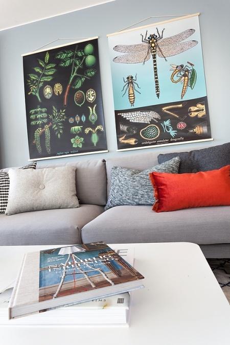Jurnal de design interior - Amenajări interioare, decorațiuni și inspirație pentru casa ta: Apartament amenajat în albastru - gri
