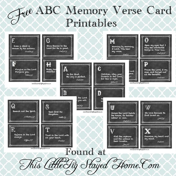 Awesome Free ABC Memory Verse Card Printable Found At  Www.ThisLittlePigStayedHome.com