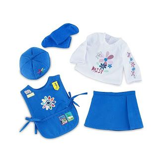 5 piece Daisy Girl Scout uniform that fits 18 inch dolls