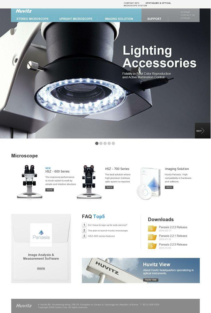 The website 'http://microscope.huvitz.com/eng/index.html' courtesy of @Pinstamatic (http://pinstamatic.com)