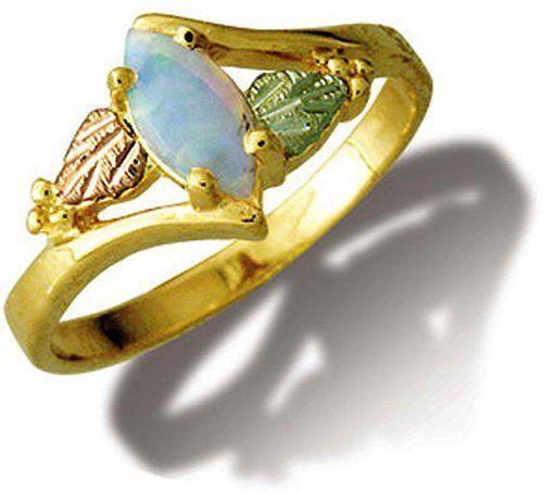 This Elegant Ladies 10 Karat Black Hills Gold Ring By Landstroms Has A 12 Karat Black Hills Go Black Hills Gold Jewelry Black Hills Gold Black Hills Gold Rings