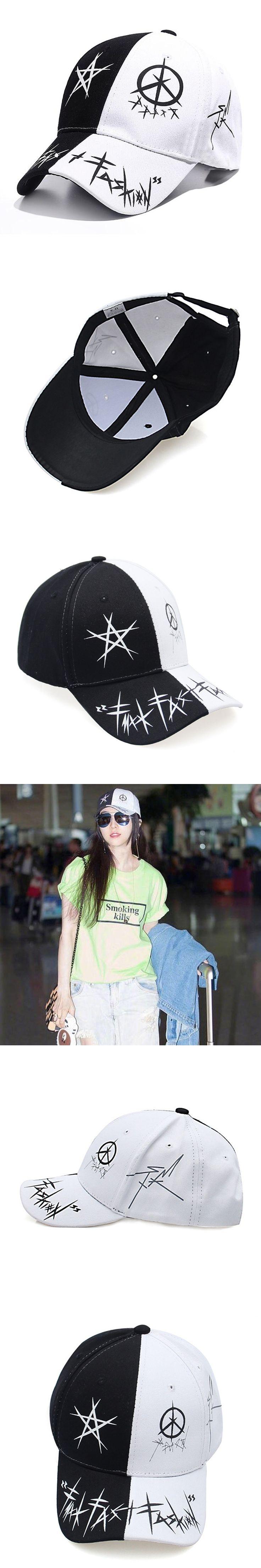 Brush graffiti baseball cap unisex solid Patch Ring Safety Pin curved hats baseball cap men women snapback caps casquette gorras