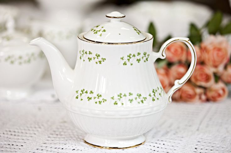 These Royal Tara large trellis shamrock teapots are a must for anyone with a fondness of tea - and make great gifts too!