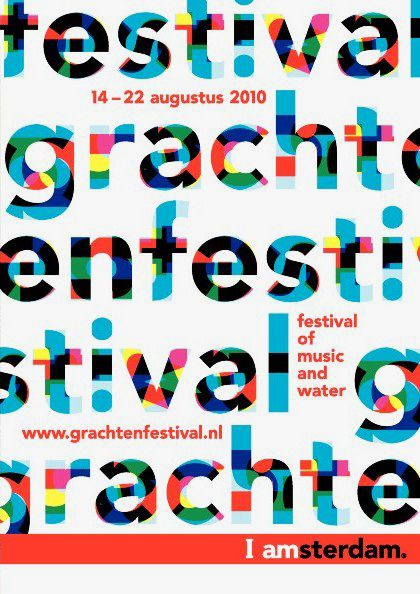 Poster designed by Thonik for Grachtenfestival, 2010
