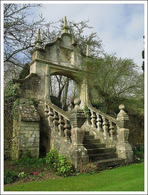 beautiful ruins, enchanted staircase