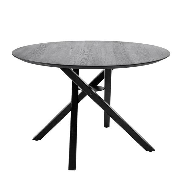 Connor Black Oak Round Dining Table