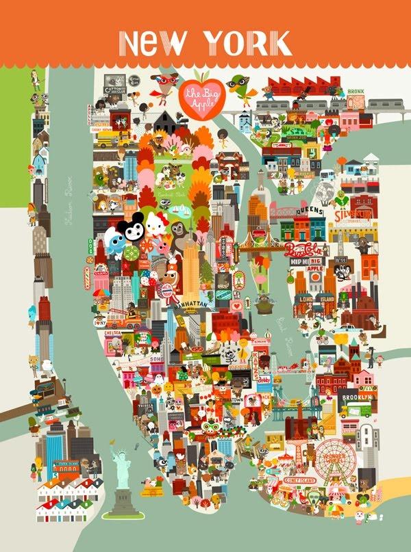46 best Maps of New York images on Pinterest  New york city City