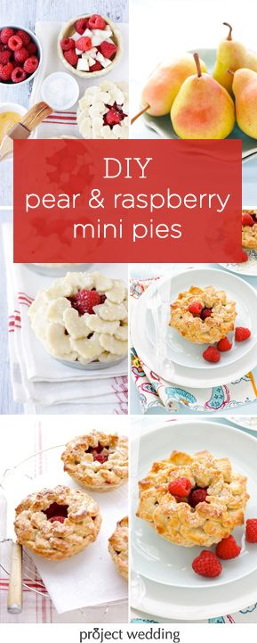 delicious recipe and how-to for pear and raspberry mini pies!