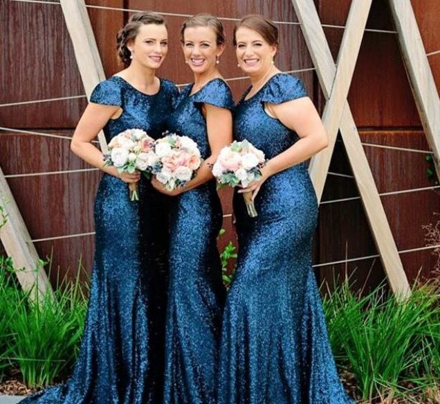 Sequins, sequins, sequins. Doesn't matter the colour, they rock any bridal party. We love this colour. Jadore Gowns are available to try on in Perth at Nora and Elle Bridesmaids.