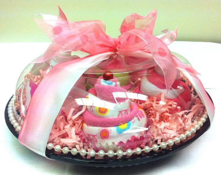 onsie and washcloth cupcakes.