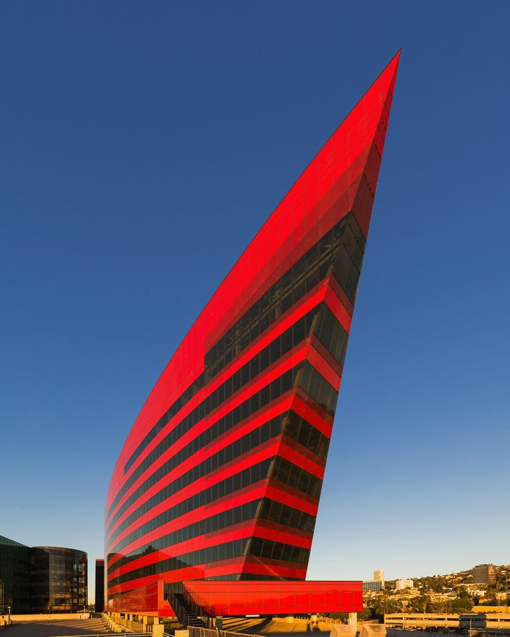 ♂ Unique modern architecture Pacific Design Center, Red Building
