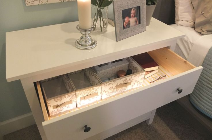 hemnes chest with 2 drawers white 2