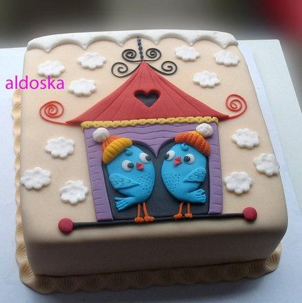 Boy twins  Cake by aldoska