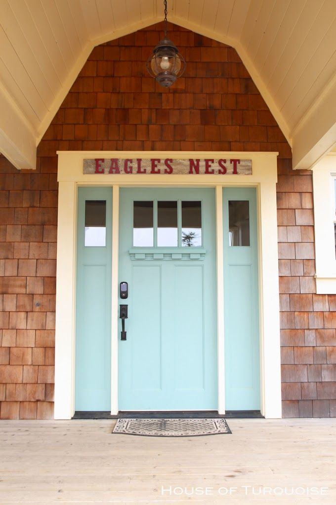 House of Turquoise Turquoise Tour of Seabrook Washington- Turquoise front door & 110 best Seabrook Washington images on Pinterest   Seabrook ... pezcame.com
