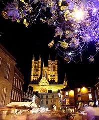 Lincoln Christmas Market in the UK...so crowded but so much to see!