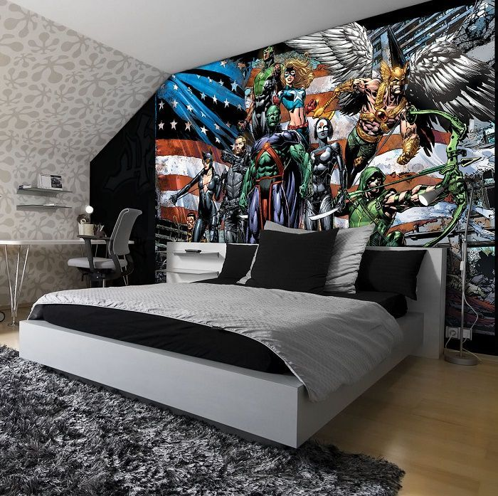 XL Justice League Cartoon Wallpaper Murals