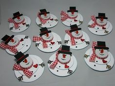 using tealights | paper snowmen using tealights-make a nice place card.