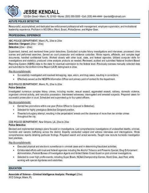 Best 25+ Police officer resume ideas on Pinterest Police officer - resume for law enforcement