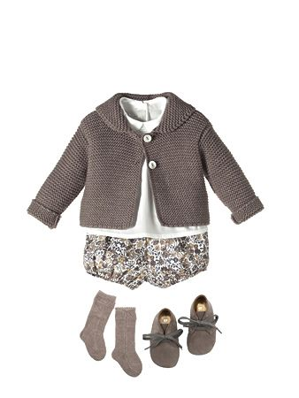 NANOS cardigan, shorts, shoes