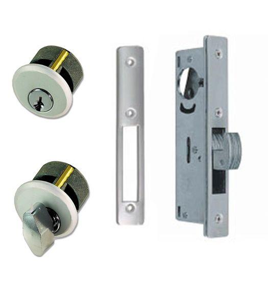 Sliding Storefront Door Mortise Deadbolt Lockset, Zinc Cylinders, TH1102-PZ