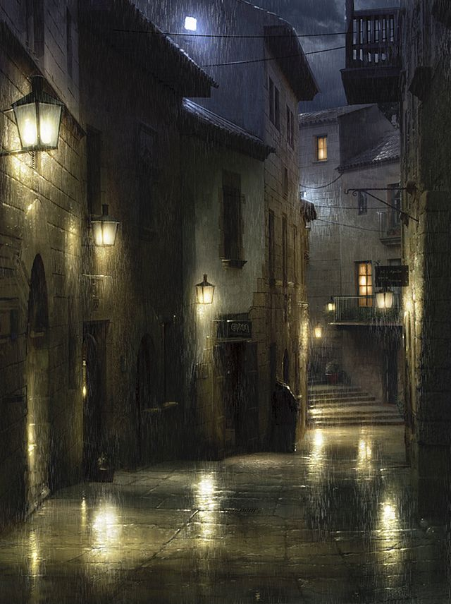 Rain-soaked Barcelona by *atomhawk on deviantART