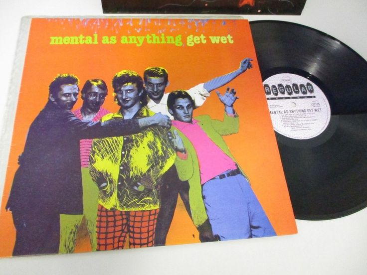 Mental As Anything GET WET LP 1979 Aust Regular L37125 with Inner Vinyl N/M #PopRock1970s