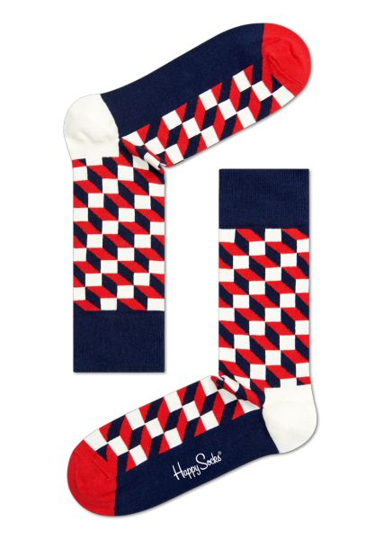 Navy Socks with Filled Optic Design. Cool Gift for men and women