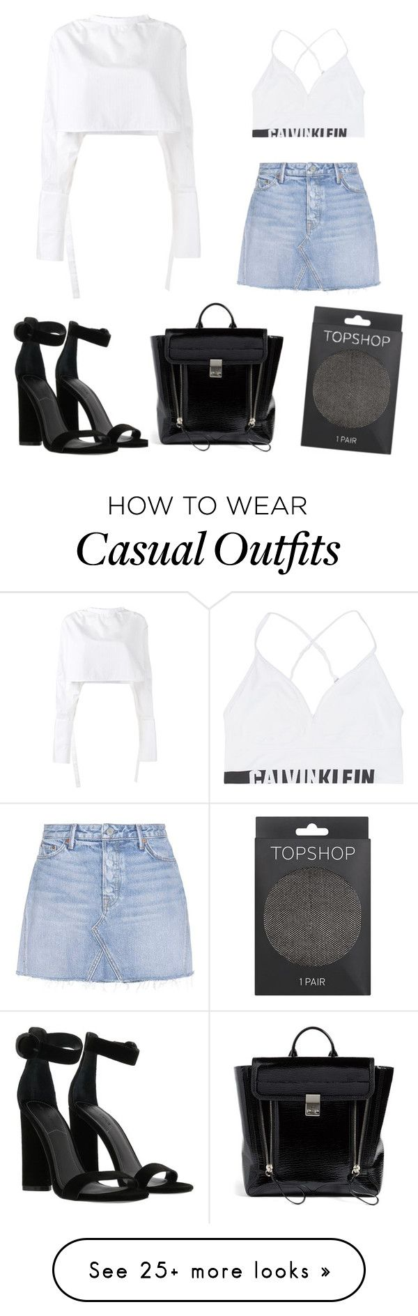 """Casual"" by mercymercier on Polyvore featuring E L L E R Y, GRLFRND, Calvin Klein Jeans, Kendall + Kylie, 3.1 Phillip Lim and Topshop"