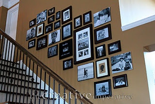 Step-by-step instructions on how to create a gallery wall.  I already had two of my focal point hangings picked out, and now I'm feeling inspired to go ahead and do it!