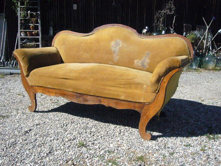 Antik Oma s altes Sofa Sitzsofa shabby Biedermeier zum herrichten Landhaus Stil