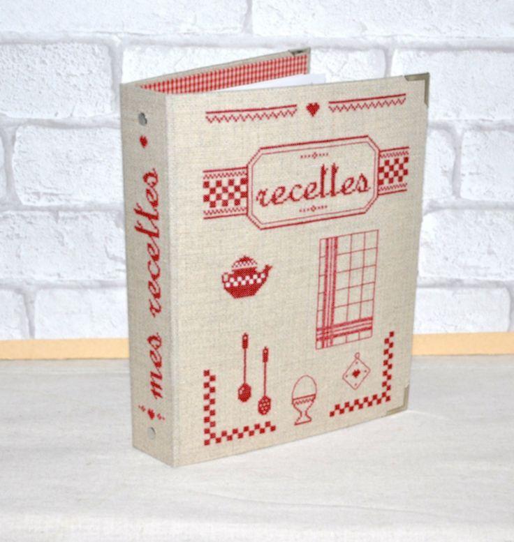 kit complet cartonnage brod classeur recettes de cuisine ideecreation pinterest cuisine. Black Bedroom Furniture Sets. Home Design Ideas