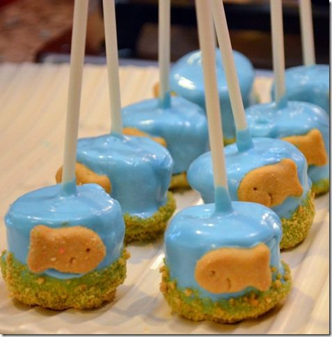 154 best images about fish birthday party on pinterest for Fish themed party food