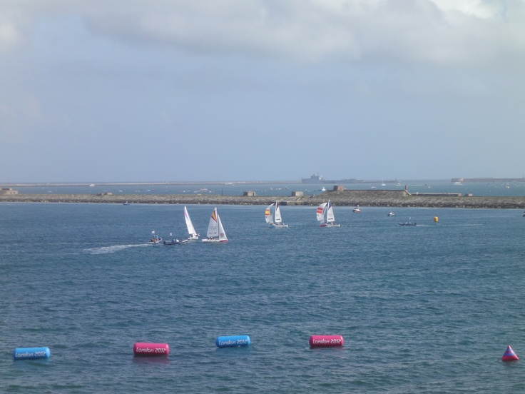4th August Olympic Sailing Weymouth. Women's Elliot 6m Match Race. Team US v Team GB