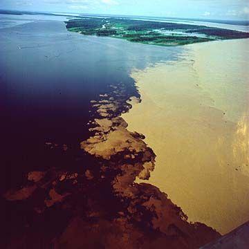 Encontro das Águas do Rio Negro e Solimões - A verdadeira prova da existencia de Deus