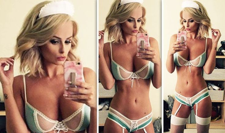 """Rhian Sugden flaunts her JAW-DROPPINGcleavage as she poses in sexy nurse outfit        The 31-year-old, who has previously claimed her days as a Page Three girl were over, teased her followers with the racy uploads this afternoon.  The curvaceous model could barely contain her ample assets as she posed in a sheer lace bra, which featured a racy lace-up middle.    Attention!!! This is Just an Announce to view full post click on the """"Visit"""" Button Above"""