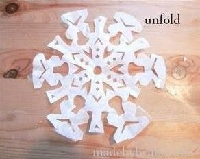 DIY Coffee Filter Snowflake