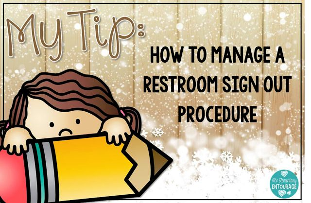 I love this quick and easy procedure for managing bathroom sign out in the classroom. FREE printable included!