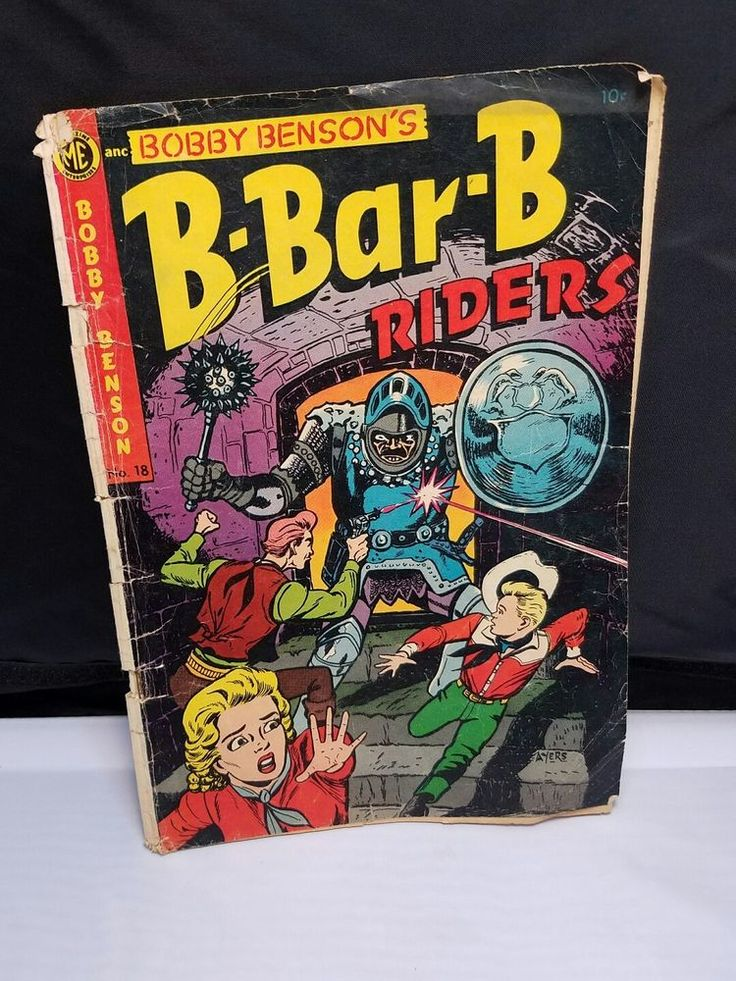 B-Bar-B Riders #18 Dick Ayers Bobby Benson 1953 Golden Age Western RARE    Cover is just barely attached    Many of the pages have been folded over at one time or another, some have minor tears    Shows signs of aging and has mild musty smell    Please inspect photos for more     Thanks and be sure to check out all our other comics for sale | eBay!