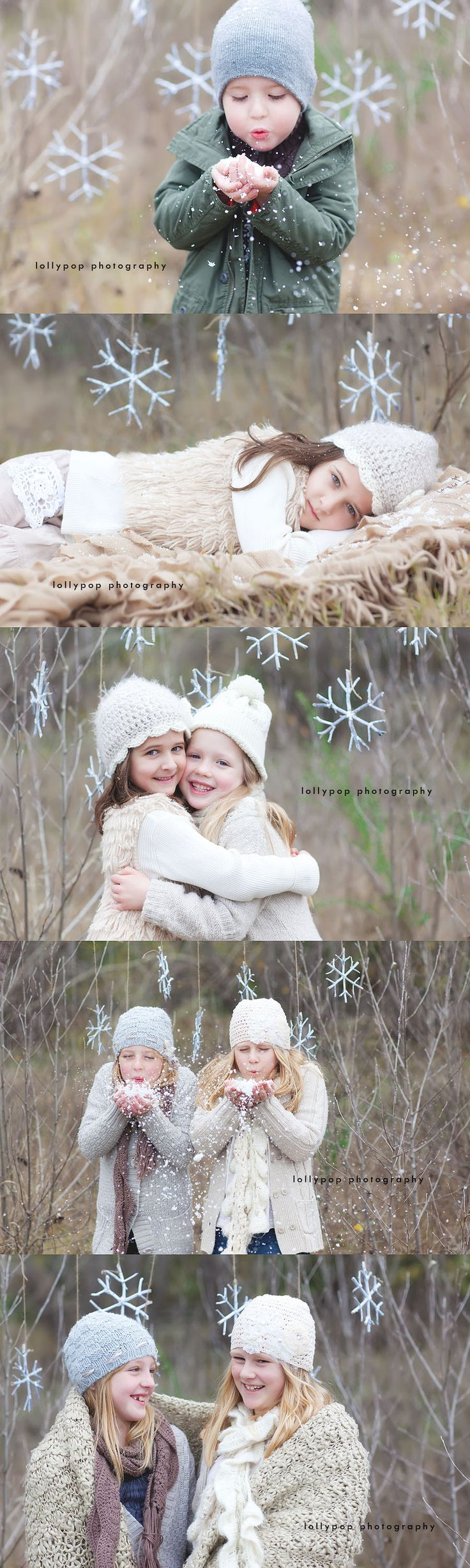 Bendigo kids photographer Such a cute idea for when there's no actual snow.