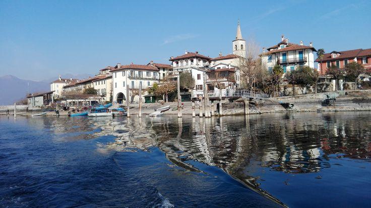 Isola Pescatori - Fishermen's Island in the Borromeo gulf -lake Maggiore