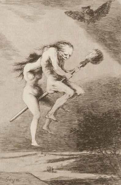 deathandmysticism:Francisco Goya, Los Caprichos, Pretty Teacher, ca. 1799