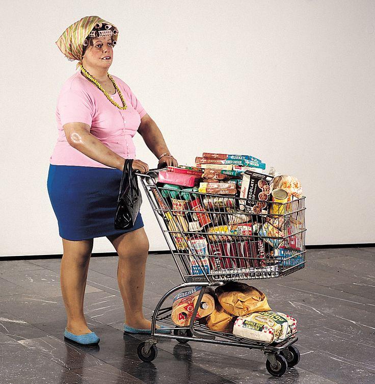 """DUANE HANSON """"Supermarket lady"""", 1969Supermarket Shopper, Sculpture, Supermarket Lady, Resins, Des Art, Duane Hanson, Histoire Des, Blog, Oil"""