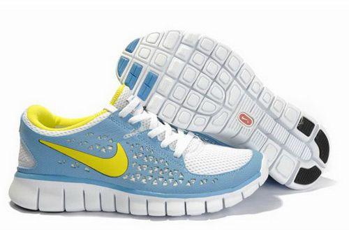 Womens Free Run Dynamic Blue Chrome Yellow White $79.00