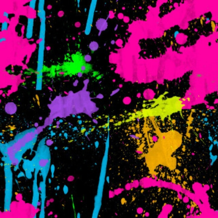 Neon colors and paint splatter:-) | Neon decorations ...