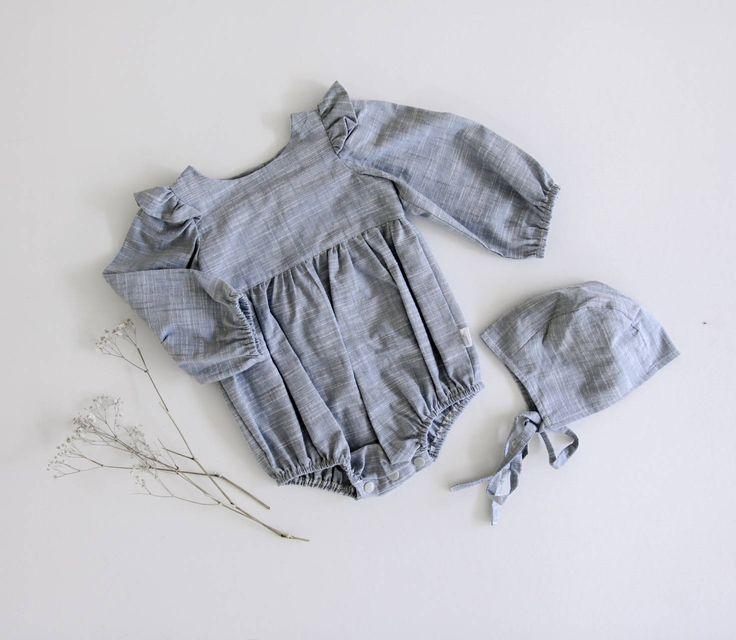 Kelsie Long Sleeve Romper by BeanieBooKids on Etsy
